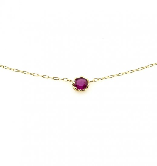 float necklace Ruby / 1811-030