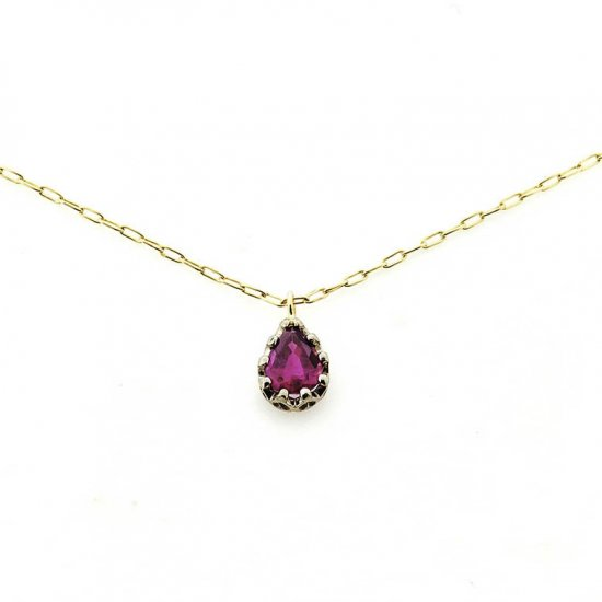 float necklace Ruby/ 1811-034