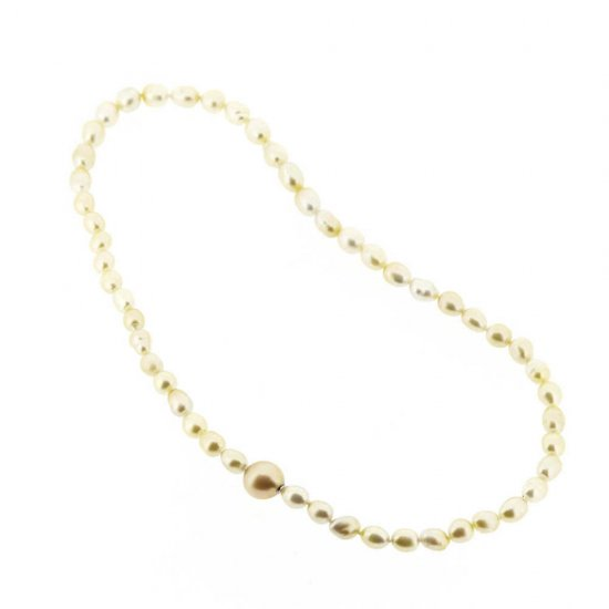 Link South Seas Light Golden Pearl Necklace / 1812-007