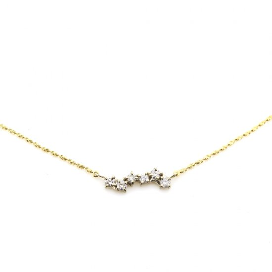 connected diamond necklace /1902-013