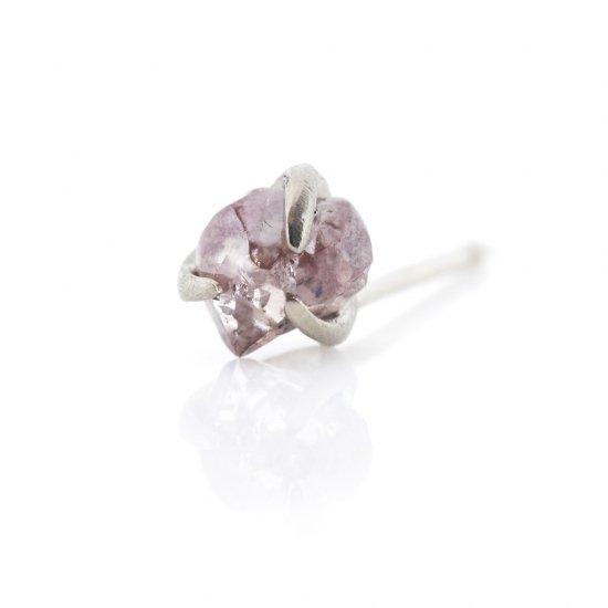 rough pink diamond studded pierce/1903-011
