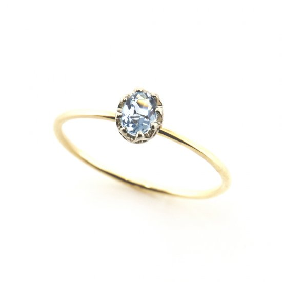float ring Aquamarine / 1903-021