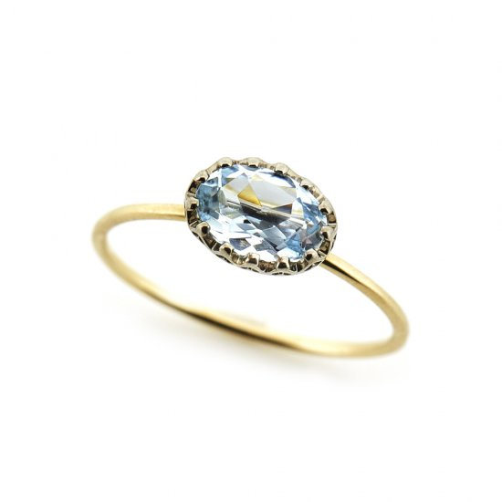 float ring Aquamarine / 1903-022