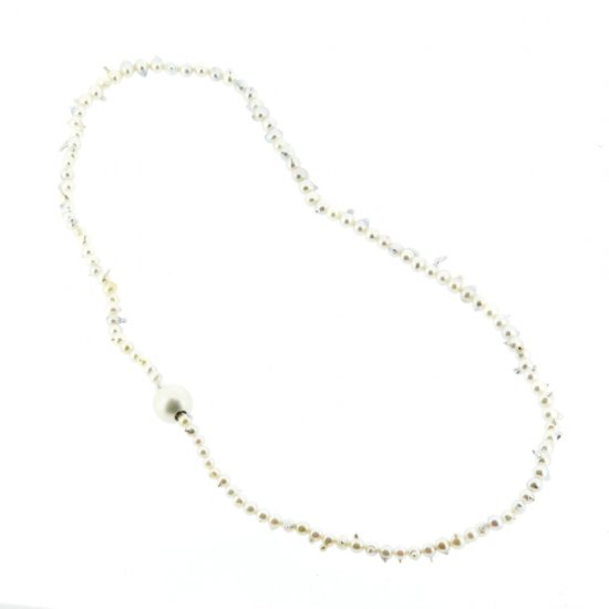 Baby Pearl Necklace (baroque/link type) / 1903-025
