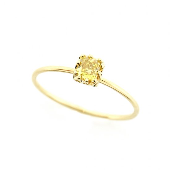 float ring fancy yellow Diamond / 1904-009