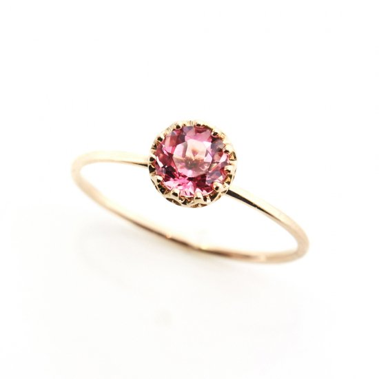 float ring pink Tourmaline/ 1904-013