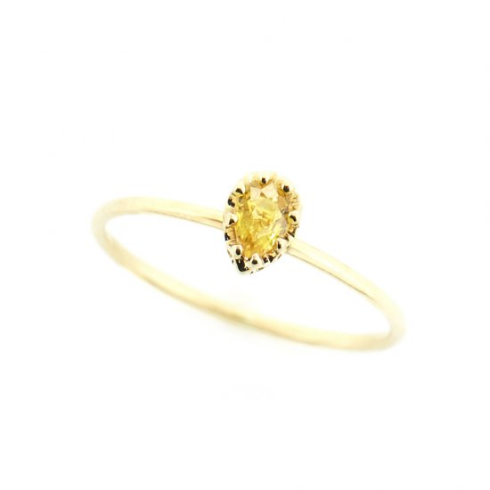 float ring yellow Sapphire/ 1904-012