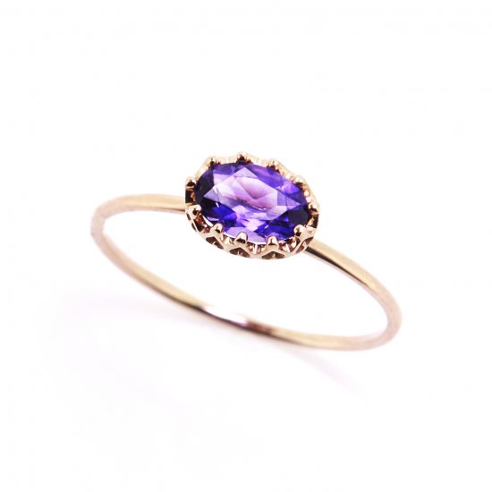 float ring Amethyst/ 1904-015