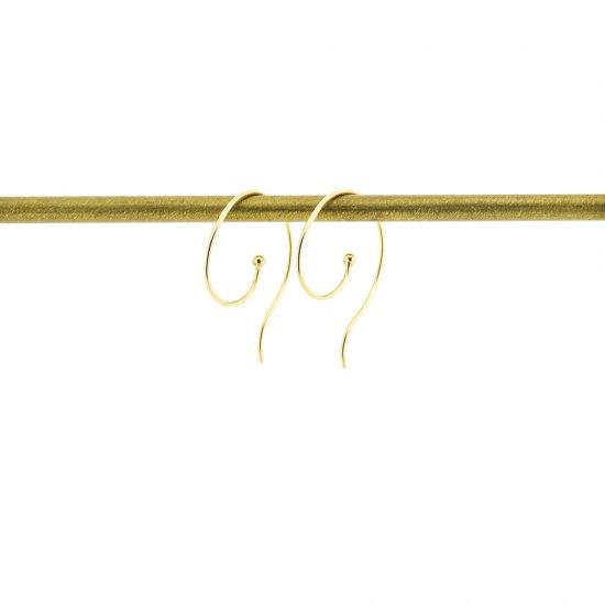 round hook pierce K18YG / 1904-020