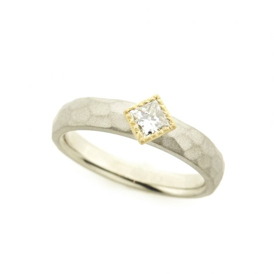 mill Diamond Cut Ring/1905-002