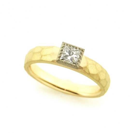 mill Diamond Cut Ring/1905-003