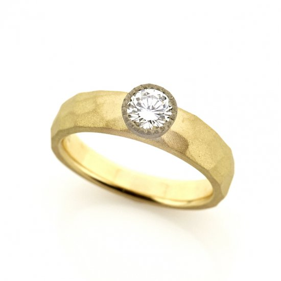 mill Diamond Cut Ring/1905-004