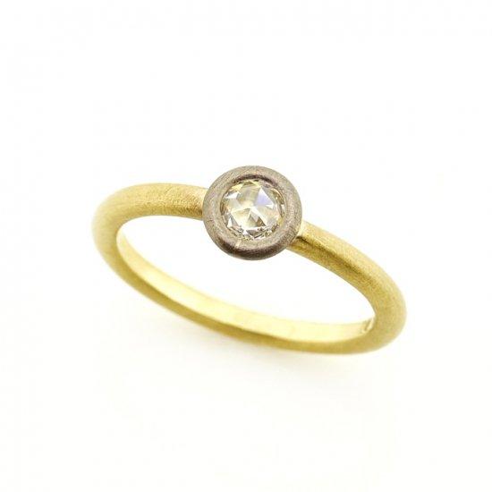 rose cut diamond materio ring/1906-010
