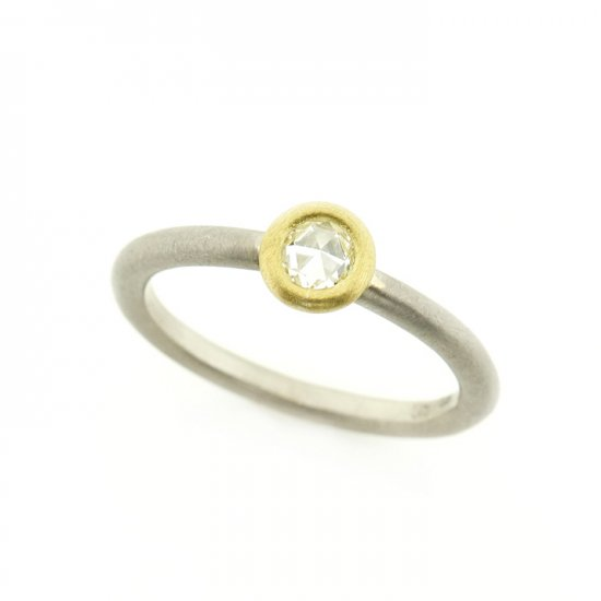 rose cut diamond materio ring/1906-011