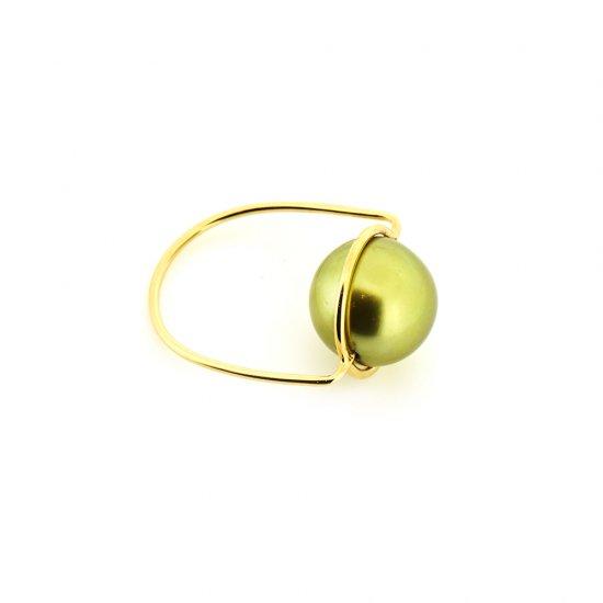 Pistachio Pearl Cosmo ring / 1907-010