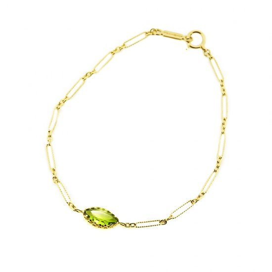 float Peridot bracelet/1908-001