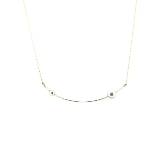 Euco akoya HAPPY Necklace / line_n_twin