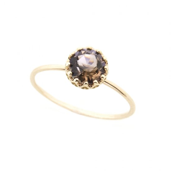 float ring Smoky quartz  /1910-021