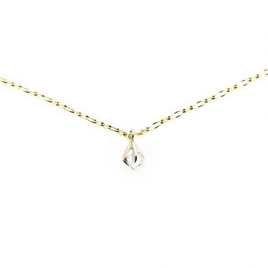pinched rough diamond pendant/1911-002