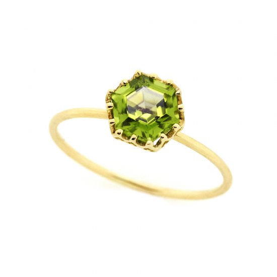 float ring Peridot / 1911-008