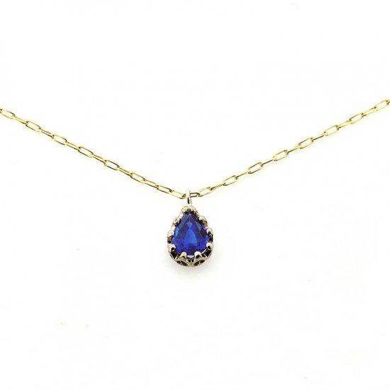 float necklace Sapphire/ 1911-014