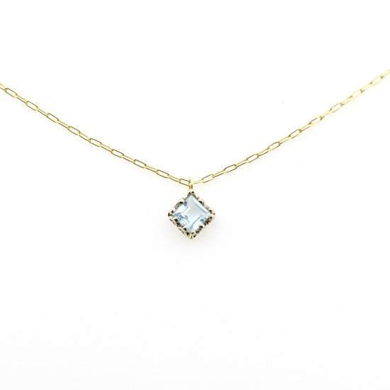 float necklace Blue Topaz/ 1912-015