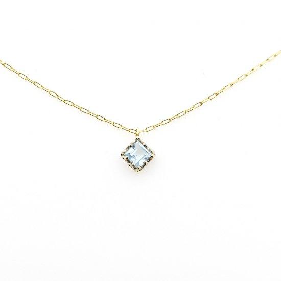 float necklace Blue Topaz/ 1912-015