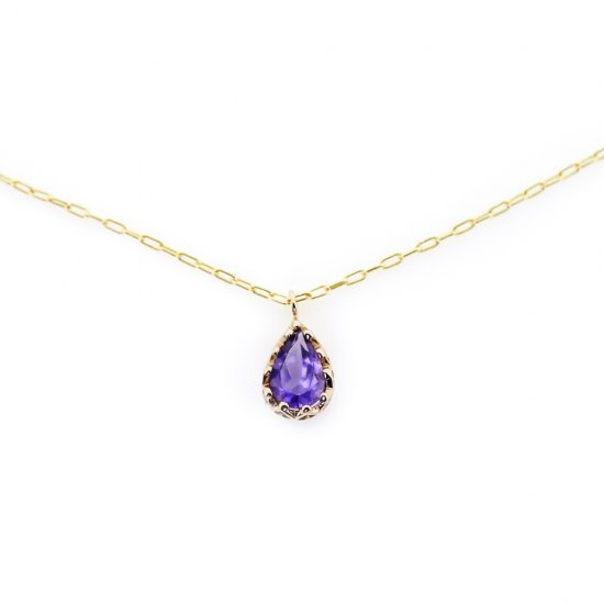 float necklace Amethyst/ 1912-016