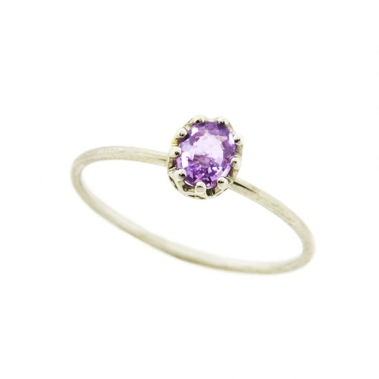 float ring Pink Sapphire / 1912-025