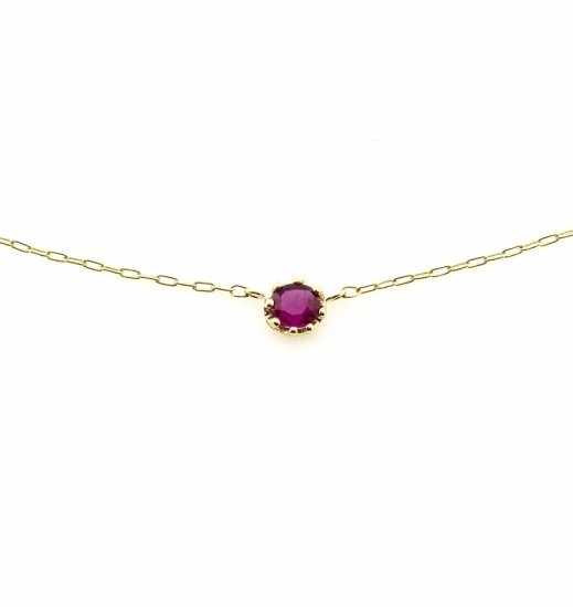 float necklace Ruby / 1912-032