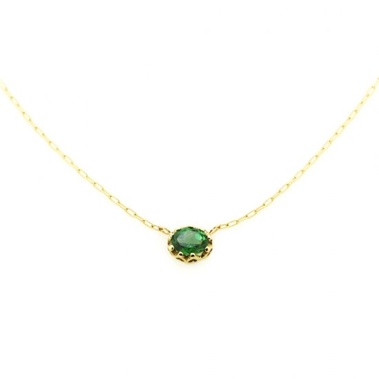float necklace Green Garnet / 2001-005