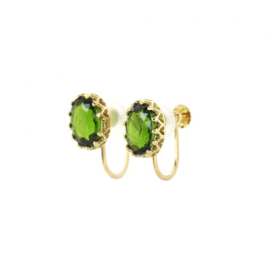 float Earring Chrome Diopside/2003-007