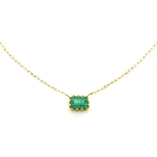 float necklace Emerald/ 2004-005