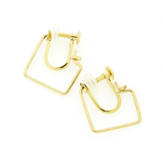 Square Hoop  Earrings(ss) K18YG / 2004-010