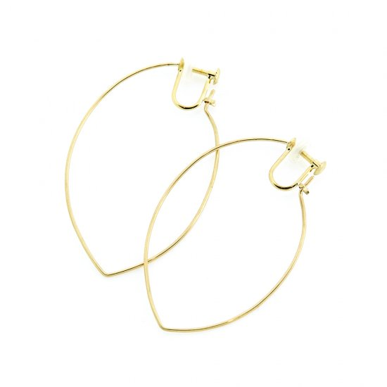 Marquis Hoop  Earrings(L) K18YG / 2004-029