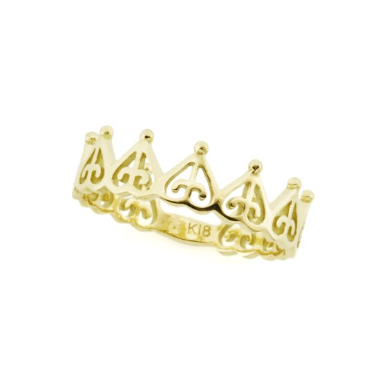 ORDER crown pinky ring K18YG
