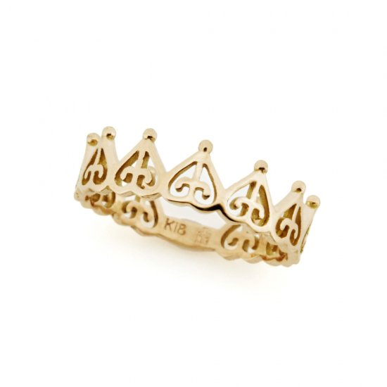 ORDER crown pinky ring K18PG