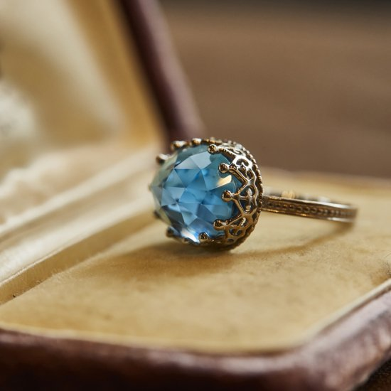 Jewel Ring Blue Topaz / 2006-008