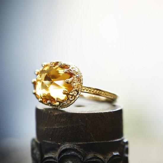 Jewel Ring Citrin Quartz / 2006-006