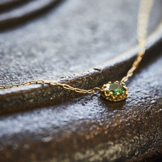 float necklace Green Garnet / 2006-024