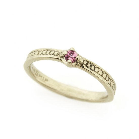ORDER mill baby ring with stone WG/2007-002