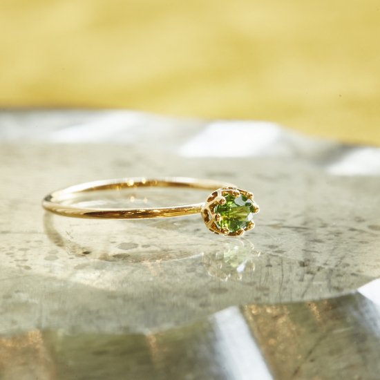 float ring Green Garnet / 2007-008