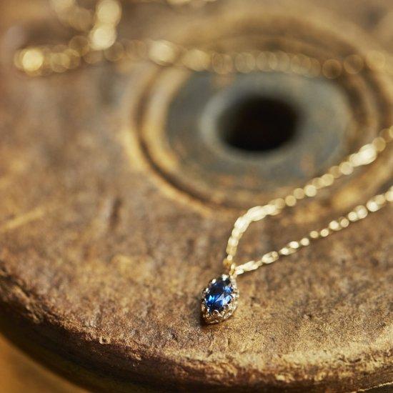float necklace Sapphire / 2009-008