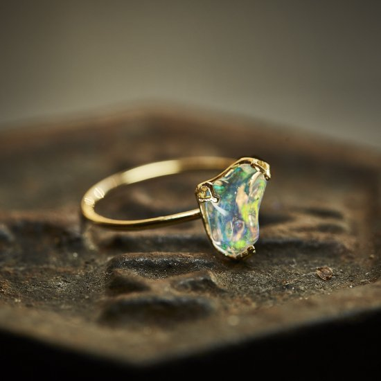 Deformed Opal ring / 2102-009