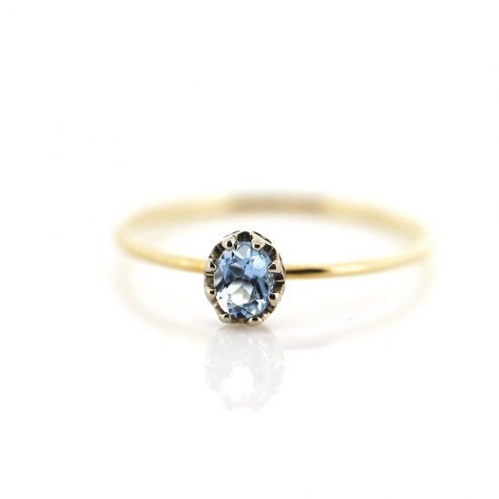float Ring Aquamarine pinky/2103-009