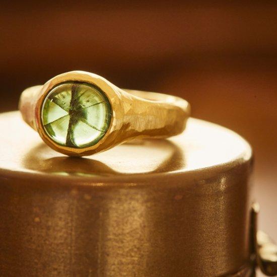 Trapiche Emerald rough Ring/2105-003