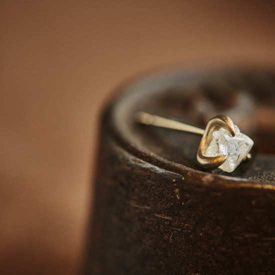 rough diamond studded pierce/2106-001
