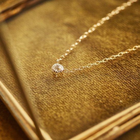 Old european cut Diamond Necklace rosegold/2106-016