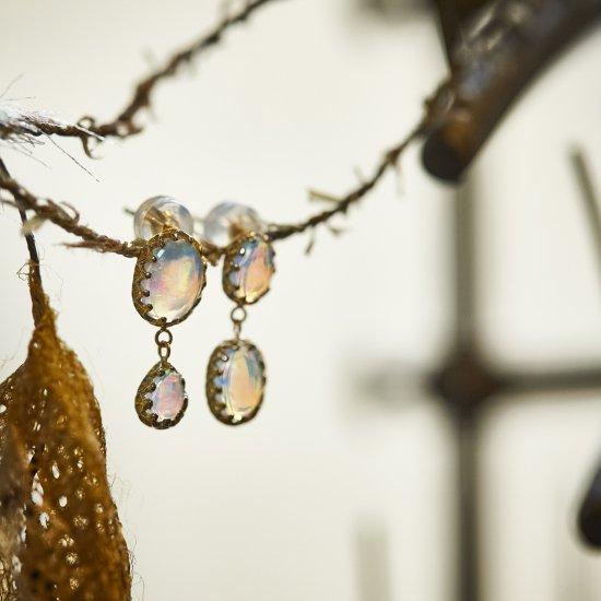 studded Pierce twin Opal /2108-001