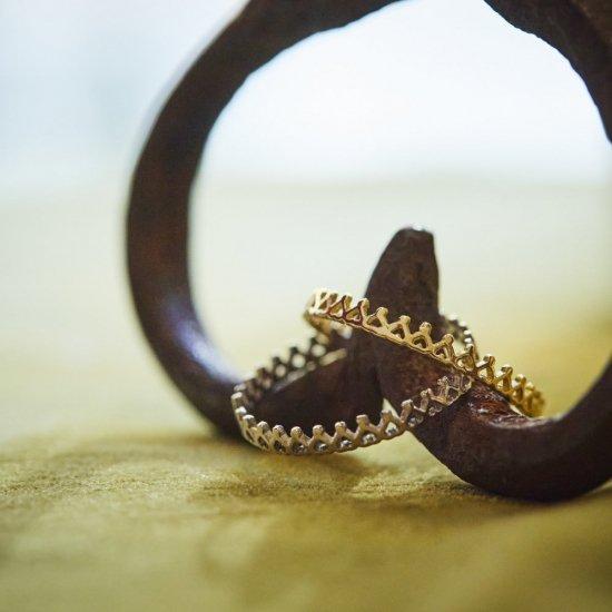 crown ring mini K18WG / 2108-004
